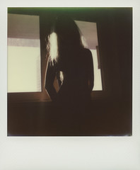 In a shadow (© Marcin Michalak (MarcinMichalak@outlook.com)) Tags: impossibleproject sx70 theimpossibleproject window okno polaroidsx70 instantfilmcolor nude shadow akt color impossible polaroid analog katowice śląskie poland pl