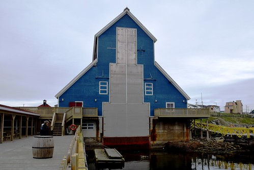 Rear of The Matthew Legacy Building, Bonavista, Newfoundland