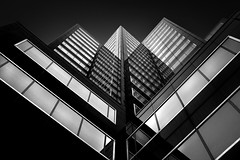 Sawtooth (bprice0715) Tags: canon canoneos5dmarkiii canon5dmarkiii architecture architecturephotography building blackandwhite blackwhite bw contrast highcontrast lowkey jagged corners lines shapes reflections hartfordsteamboiler hartfordct hartford city urban