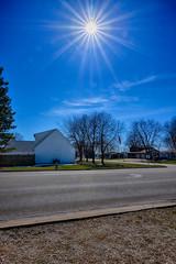 A Mid March Sunburst (kendoman26) Tags: hdr nikhdrefexpro2 sunburst sun bluesky nikon nikond7100 tokinaatx1228prodx tokina tokina1228 morrisillinois