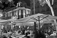 Madrid November 2012 (scatman otis) Tags: madrid madridspain spain streetscenes blackandwhite bw night cities city