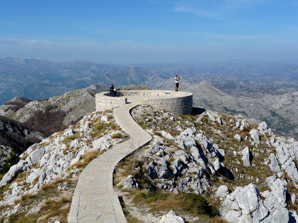 The view from Njegos's Mausoleum atop Mount Lovćen in Montenegro