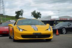 Yellow. (Cody Kim Photography) Tags: hot sexy yellow track italia power rich performance sydney engine australia 360 ferrari exotic modena rare exclusive supercar v8 458 458italia