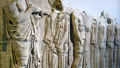 Plaque of the Ergastines, view from left (profzucker) Tags: greek parthenon classical marble athena ancientgreece reliefsculpture panathenaic highclassical ergastines