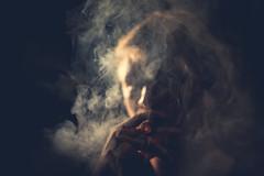 Clouded Mind (Nico Zumstein) Tags: blue light 50mm nikon cross head smoke cigar mind processing clouded d610
