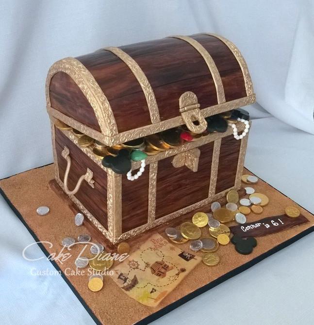 How To Make A Fondant Pirate Treasure Chest Cake