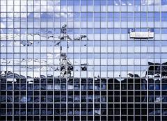 500px (kohlmann.sascha) Tags: street people house reflection building berlin window monochrome facade