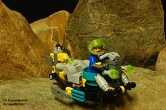 UF Tunnel Speeder (LegoMathijs) Tags: rock rocks lego space fast tunnel scifi ultra speeder raiders miners moc legomathijs