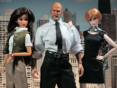 Lois Lane, Lex Luther and Lana Lang (valleyofthedolls) Tags: actionfigure barbie superman fashiondoll hottoys integritytoys