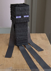 Mindcraft Enderman Piata (chow vegan) Tags: birthday kids diy crafts pinata enderman minecraft