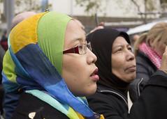 (louisa_catlover) Tags: city winter portrait urban woman demo march israel democracy war candid palestine politics rally headscarf profile protest july australia melbourne victoria demonstration terrorism cbd activism crisis siege gaza freepalestine 2014 freegaza