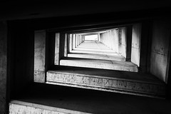 staircase in b&w (olipennell) Tags: malta treppe aufzug valletta upperbarrakkagardens silverefex