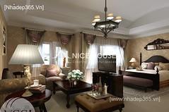 Thiết kế nội thất phòng ngủ tân cổ điển_01