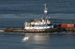 GULF DAWN in New York, USA. April, 2014 (Tom Turner - SeaTeamImages / AirTeamImages) Tags: nyc usa newyork water port harbor marine unitedstates harbour transport pony maritime transportation tugboat tug statenisland bigapple tow channel narrows waterway towing tomturner gulfdawn