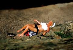 Sleeping in the sun... (iEagle2) Tags: woman blonde sunbathing sunburning