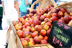 Farmers Market 7.5.14 5 (Marcie Gonzalez) Tags: california county people food orange fruits vegetables fruit canon shopping walking photography healthy colorful farmers market many farm vegetable fresh goods delicious southern health together pile crop picked baskets bunch bunches produce local organic gonzalez oc nectarine marcie irvine direct piles nectarines baked ripe nutrition nutritious piled marciegonzalez marciegonzalezphotography