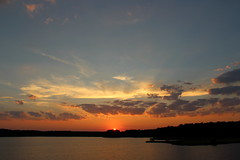 Sunset over Lake Crabtree (Sam0hsong) Tags: sunset night clouds cloudy northcarolina lakecrabtree partlycloudy wsweekly91