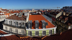 Roofs of Lisbon Baixa (tarmo888) Tags: portugal europe terrace lisboa lisbon puhkus vacationtravel photoimage sooc sonyalpha sony geosetter mytracks sweeppanorama geotaggedphoto nex7 foto standarddowndirection year2014 selp1650
