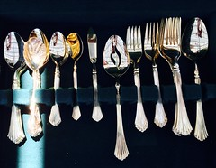 silver family (lianebeat) Tags: vintage silverware market antique melrose forks fleamarket spoons melrosetradingpost