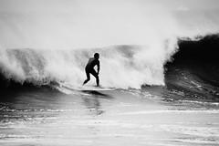 Breaking (thetrick113) Tags: ocean blackandwhite surf waves surfing shore surfboard atlanticocean stormsurge njshore newjerseyshore capemaynewjersey eastcoastsurfing hurricanearthur