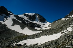 Further Up the Tszil Glacier Route (Michael Garson) Tags: mountain snow canada mountains nature rock hiking hike glacier backpack joffrelakes joffrelake backbacking joffrelakesprovincialpark