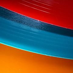 "7"" Vinyl (Ben Wightman) Tags: records colours vinyl squareformat grooves filltheframe 7singles macromondays"