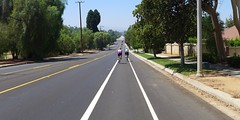 Shiny New Highland Ave. Bike Lane! (cyclotourist) Tags: california bike highland lane redlands