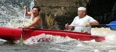 18.7.14 Vyssi Brod Weir 176 (donald judge) Tags: river boats republic czech canoes vltava brod weir rafts vyssi