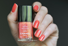 Chanel - Tango 12 (sansa-beauty) Tags: coral more tango chanel shimmer morea vernis notd chanelnailpolish chanellevernis chanelswatch chaneltango