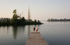 Copper Harbor, Michigan (Kathy~) Tags: copperharbor michigan puremichigan summer 2014 boys two fishing pier dock herowinner instagram