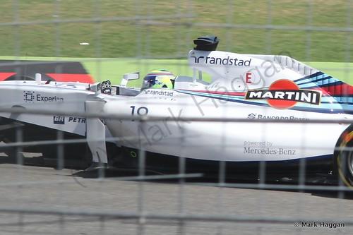 Felipe Massa in qualifying for the 2014 German Grand Prix