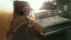 Kingswood (will s jones) Tags: sunset reflection classic car melbourne sunflare
