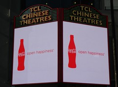 TCL Chinese Theatres Marquee Coca-Cola Ad. (jeff_soffer) Tags: hollywood cocacola august122014 tclchinesetheatres
