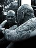 Mirror Fist Punch... (Bear & Rabbit (formerly BC&IKB)) Tags: tattoo suffolk facetattoo necktattoo mendlesham scalptattoo throattattoo facialtattoo tattooedbear tattoobear suffolktattoo inkedinuk tattooedintheuk