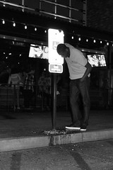 Handicapped (A Richie) Tags: party night drunk blackwhite candid streetphotography alcohol nightlife sick hifi vomit puking oldtownscottsdale 3sheets