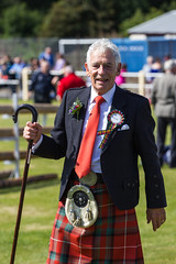 The Chieftain (Five Second Rule) Tags: summer male scotland scottish games judge tradition tartan highlandgames 2014 bute rothesay chieftain isleofbute