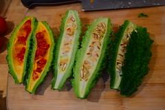 Bitter Melon (jjldickinson) Tags: food cooking dinner vegetable longbeach wrigley bittermelon nikond3300 promaster52mmdigitalhdprotectionfilter 100d3300 nikon1855mmf3556gvriiafsdxnikkor