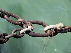 rusty chain (kenjet) Tags: ocean sea water rust rusty chain link linked