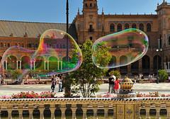 Plaza de Espana... (leodelrosa...) Tags: flying soap spain seville plazadeespana