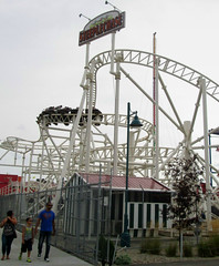 Steeplechase (Robert S. Photography) Tags: park nyc family summer brooklyn coneyisland amusement ride canonpowershot steeplechase 2014 a3400