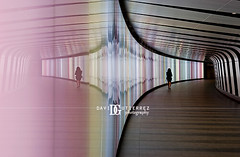 London St. Pancras Square (david gutierrez [ www.davidgutierrez.co.uk ]) Tags: city uk travel light people urban reflection building london art colors architecture modern photography 50mm office arquitectura arte artistic contemporary interior tunnel architectural architektur davidgutierrez pentaxk5