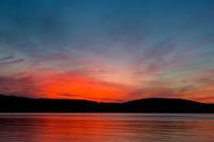 SouthBaySunset-20140704-06 (Frank Kloskowski) Tags: sunset reflection michigan fourthofjuly southbay lakesuperior munising psunset
