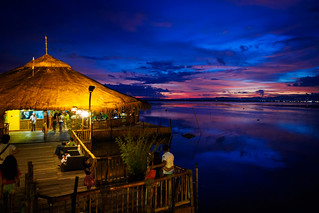 Sunset at Lantaw Floating Native, Cebu