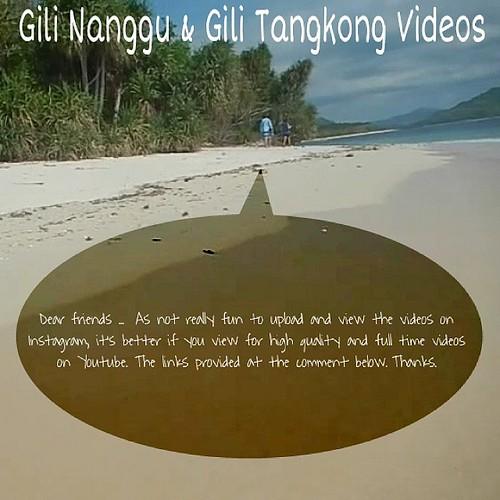 GILI NANGGU SERIES (LAST POST)  VIDEO TAKEN DURING VISIT  AT GILI NANGGU AND GILI TANGKONG, Sekotong, West Lombok, NTB, INDONESIA  Please view this video at the following link:  http://youtu.be/HXiBORvkQkE   #love #TagForLikes #TFLers #likesforlikes #expl