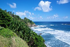 Windward Coast of Saint Vincent 2 (scottnhelms) Tags: ocean sky praia beach paradise bluesky playa céu atlantic cielo caribbean atlanticocean svg paraíso oceano caribe céuazul cieloazul vincy saintvincent windwardcoast