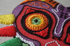 Majora's Mask (ShinyFabulousDarling) Tags: art diy handmade embroidery sewing crafts zelda textiles stitched legendofzelda textileart fibreart handembroidery