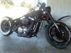 1028131123 (DANGER!1) Tags: 2001 danger chopper pipes motorcycle chop biker suzuki custom build loud fuel exhaust rebuild dragbike marauder bobber ledsled vz800