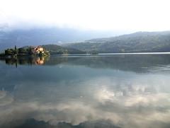 toblino 2013 (martilary) Tags: italy castle italia trento nebbia castello trentino toblino