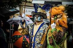 Golds (Melissa Maples) Tags: man water rain umbrella germany deutschland costume nikon europe mask parasol nikkor fancydress vr ludwigsburg marktplatz afs  18200mm venetianfestival f3556g  18200mmf3556g venezianischemesse d5100