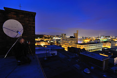 Castle House, Sheffield - August '14 (Craig Skinner - www.craigskinnerphotography.co.uk) Tags: camera city longexposure roof chimney sky people house castle rooftop night stairs court evening store nikon cityscape market sheffield yorkshire skylight urbanexploration trespass townhall courthouse coop department citycentre satellitedish ue southyorkshire urbex cooperative victoriaquays veolia rooftopping iquarter d7000 festivalofthemind